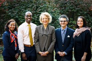 The radiology diversity group (from left): Drs. Andrea B. Birch, Marques L. Bradshaw, Stephanie E. Spottswood, Reed A. Omary, and Lucy B. Spalluto.