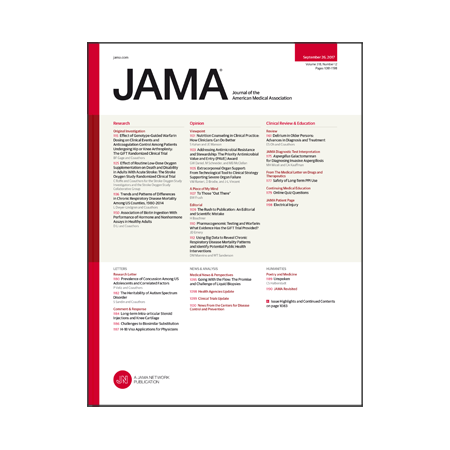 <title>Genotype-guided warfarin dosing after arthroplasty, oxygen for stroke, delirium diagnosis and treatment, and more</title>