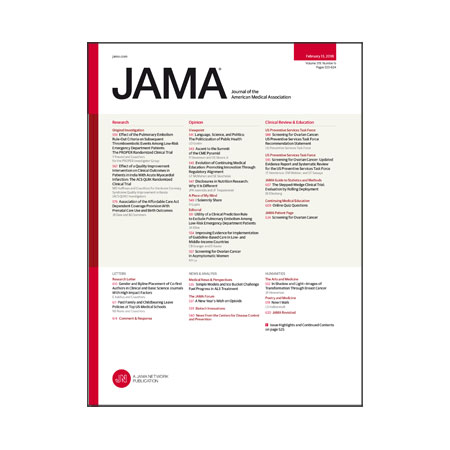 <title>Excluding PE in Low-Risk ED Patients, Screening for Ovarian Cancer, COIs in Nutrition Research, and more</title>