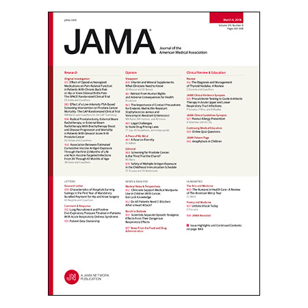 <title>Treating Back and Arthritis Pain With Opioids, Effects of 1-time PSA Screening on Prostate Cancer Mortality, Evidence for Using Vitamin and Mineral Supplements, Management of Thyroid Nodules, and more</title>