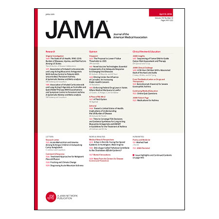 <title>US Burden of Disease, LABAs and LAMAs for Asthma, Tumor DNA Sequencing to Guide Cancer Management, and more</title>