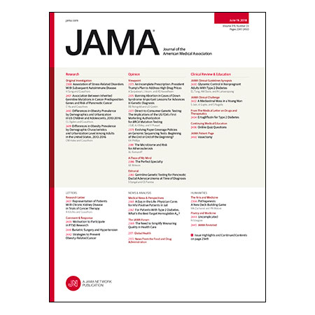 <title>Optimal Target HbA1c, Genetic Risks for Pancreatic Cancer, US Trends in Obesity, and more</title>