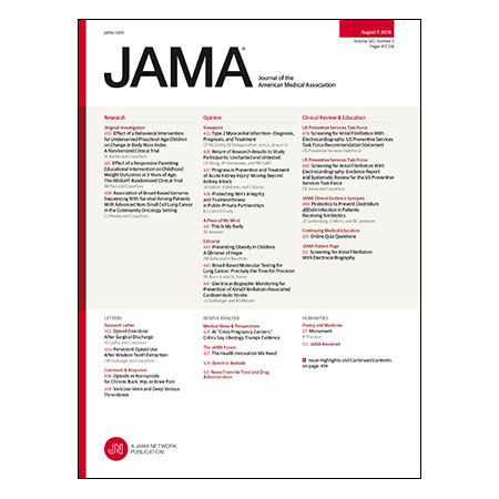 <title>Genomic Sequencing and NSCLC Survival, Childhood Obesity Interventions, Atrial Fibrillation Screening Guidelines, and more</title>