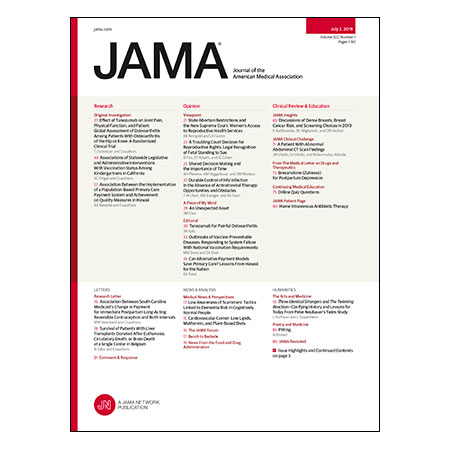 <title>Tanezumab for Painful Osteoarthritis, Requiring Childhood Vaccination, Mammogram Breast Density Reporting, and more</title>