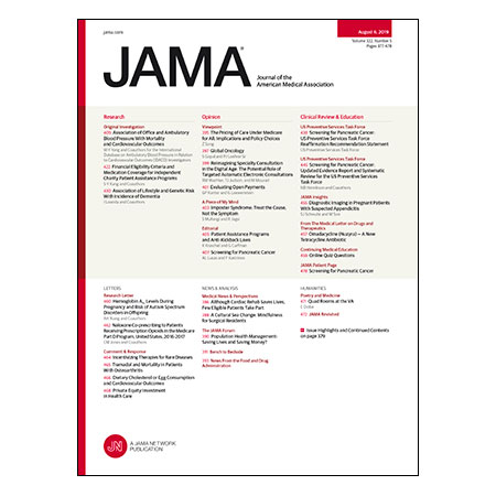 <title>BP Measurements and Mortality and CVD Risk, Charity Patient Assistance Programs, Lifestyle and Dementia, Screening for Pancreatic Cancer, and more</title>